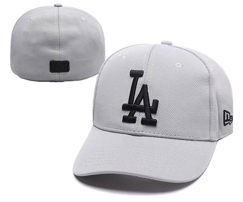 MLB Flexfit Caps   Baseball Hats Gray  6cee562349b