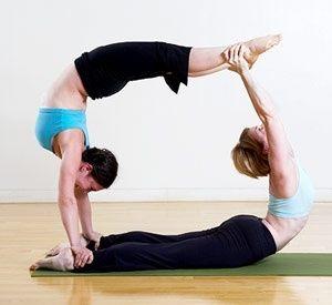 partner pose  i love yoga  pinterest  partner yoga