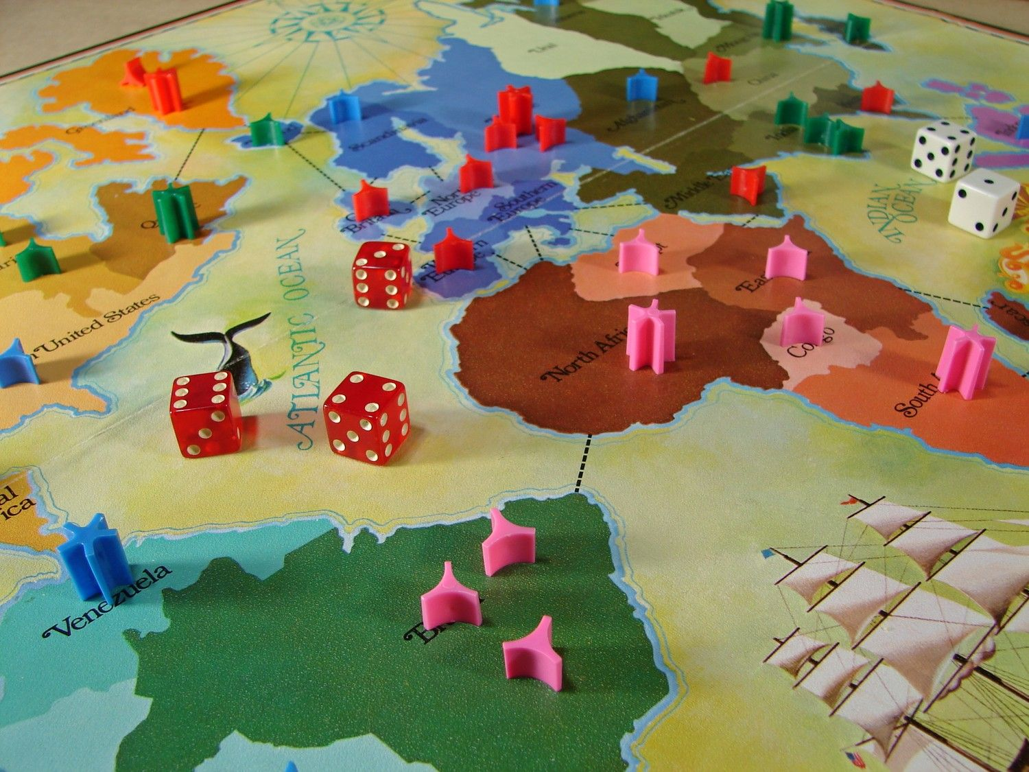 Game board and game pieces for risk pastimes pinterest explore empire learning maps and more game board gumiabroncs Gallery
