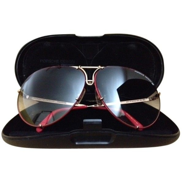 Pre Owned Vintage Porsche Design By Carrera Model 5621 5 815 315 Idr Liked On Polyvore Featuring Acc Glasses Frames Trendy Red Lens Aviators Red Aviators