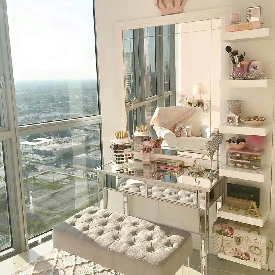 My Vanity Next To A Huge Window or Glass Door Yes Please