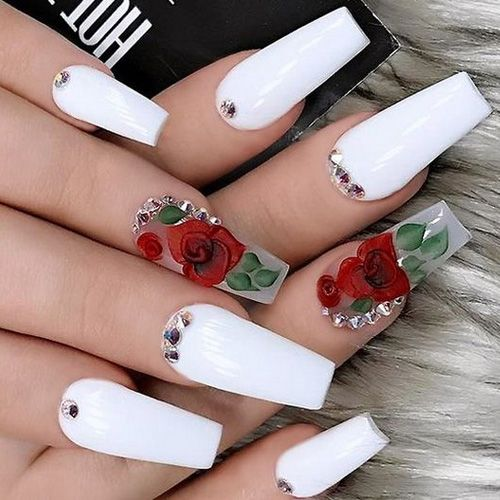 Trending Nails 15 Nails That Are So Trendy Right Now Fav Nail Art White Acrylic Nails Luxury Nails Cute Acrylic Nails