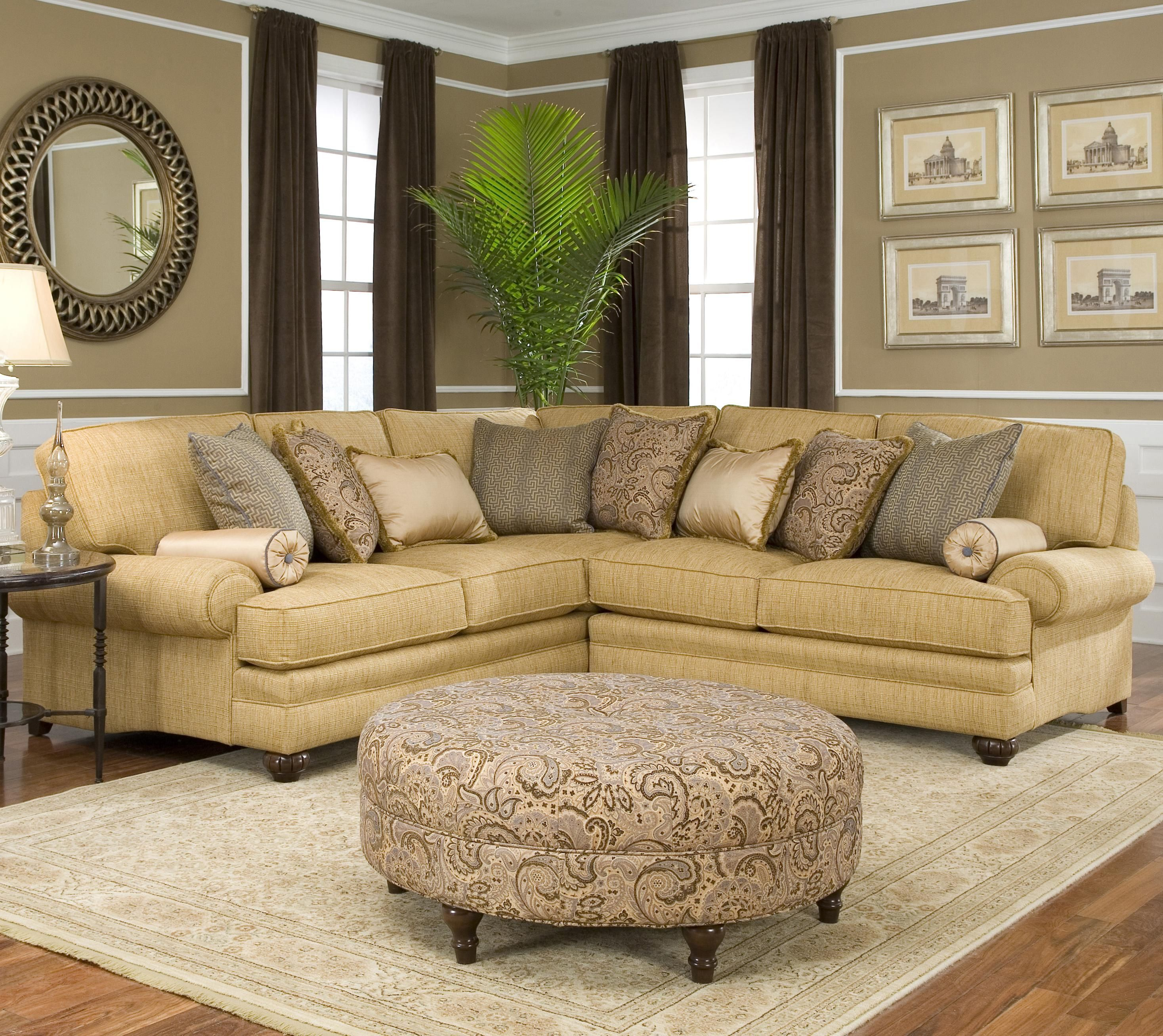 376 Corner Sectional Sofa By Smith Brothers Corner Sectional Sofa At Home Furniture Store Sectional Sofas Living Room