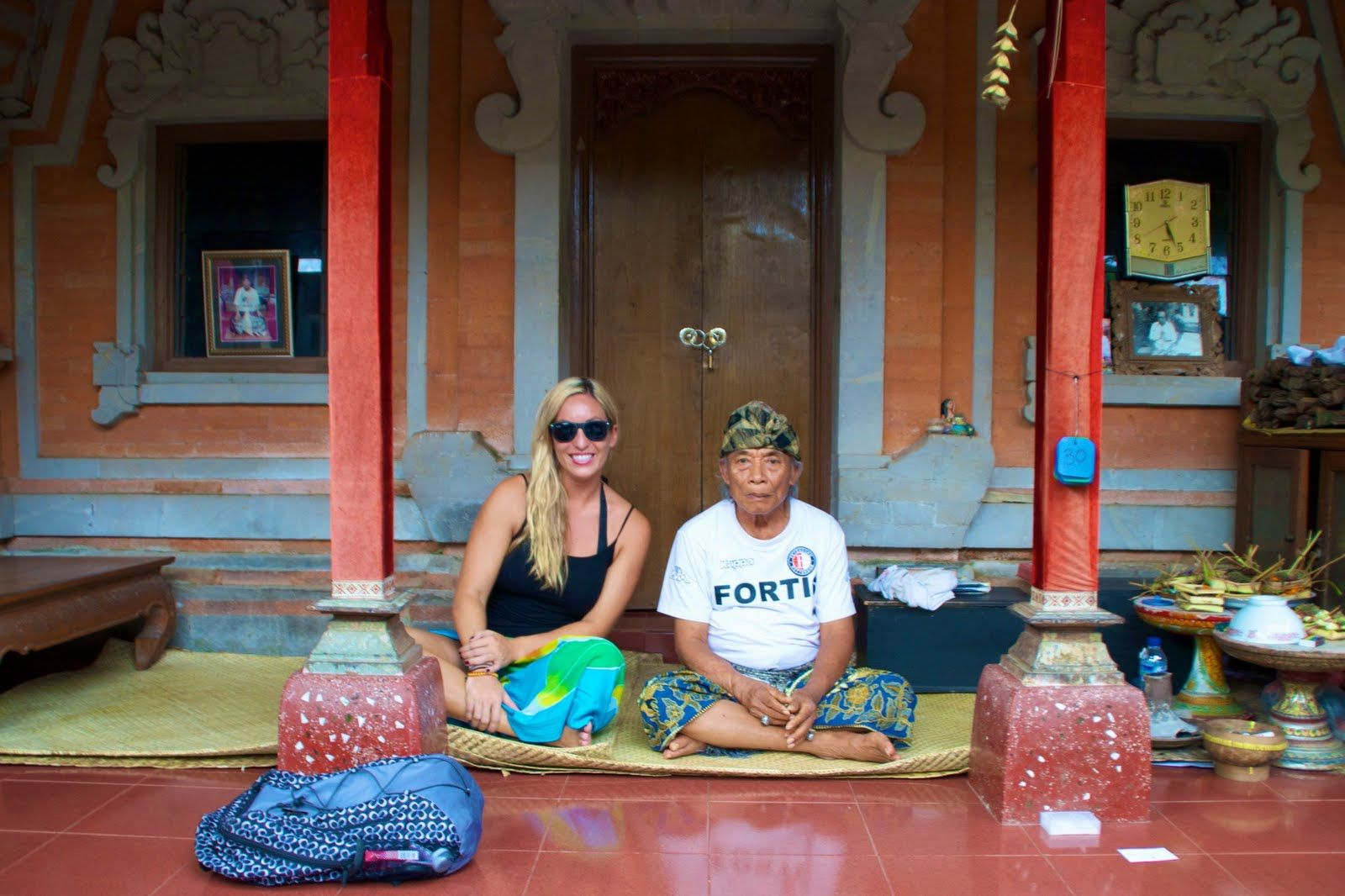 Eat, Pray, Love: Me and Ketut Liyer in his house, Ubud, Bali.