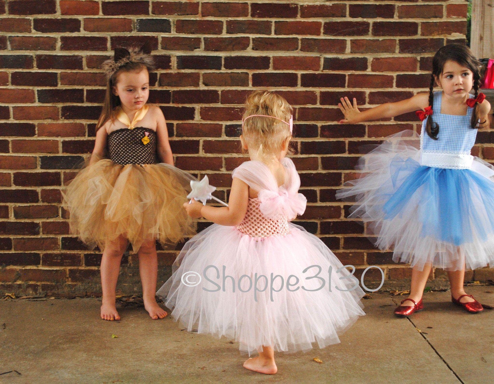 55e9c184da19 Wizard of Oz Inspired Tutu Dress Costume - Dorothy, Tin Man, Lion,  Scarecrow or Glenda
