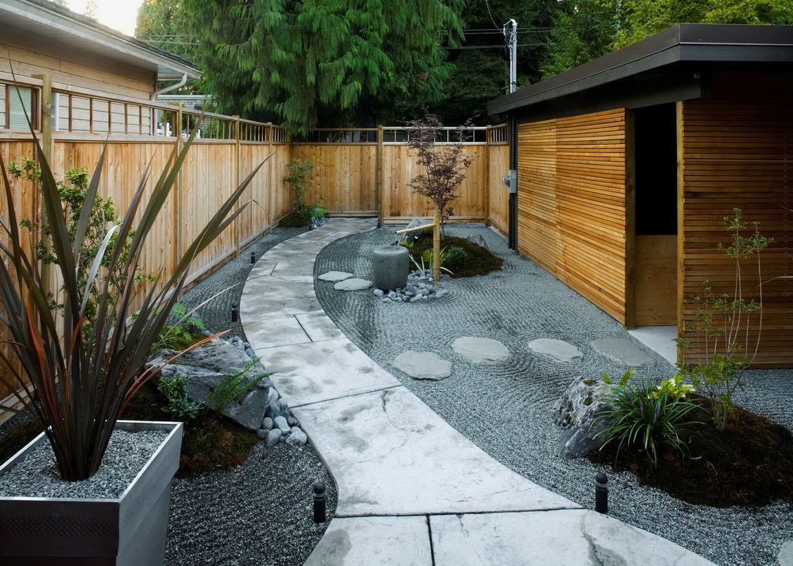 Long narrow garden inspiration on pinterest landscaping for Backyard designs
