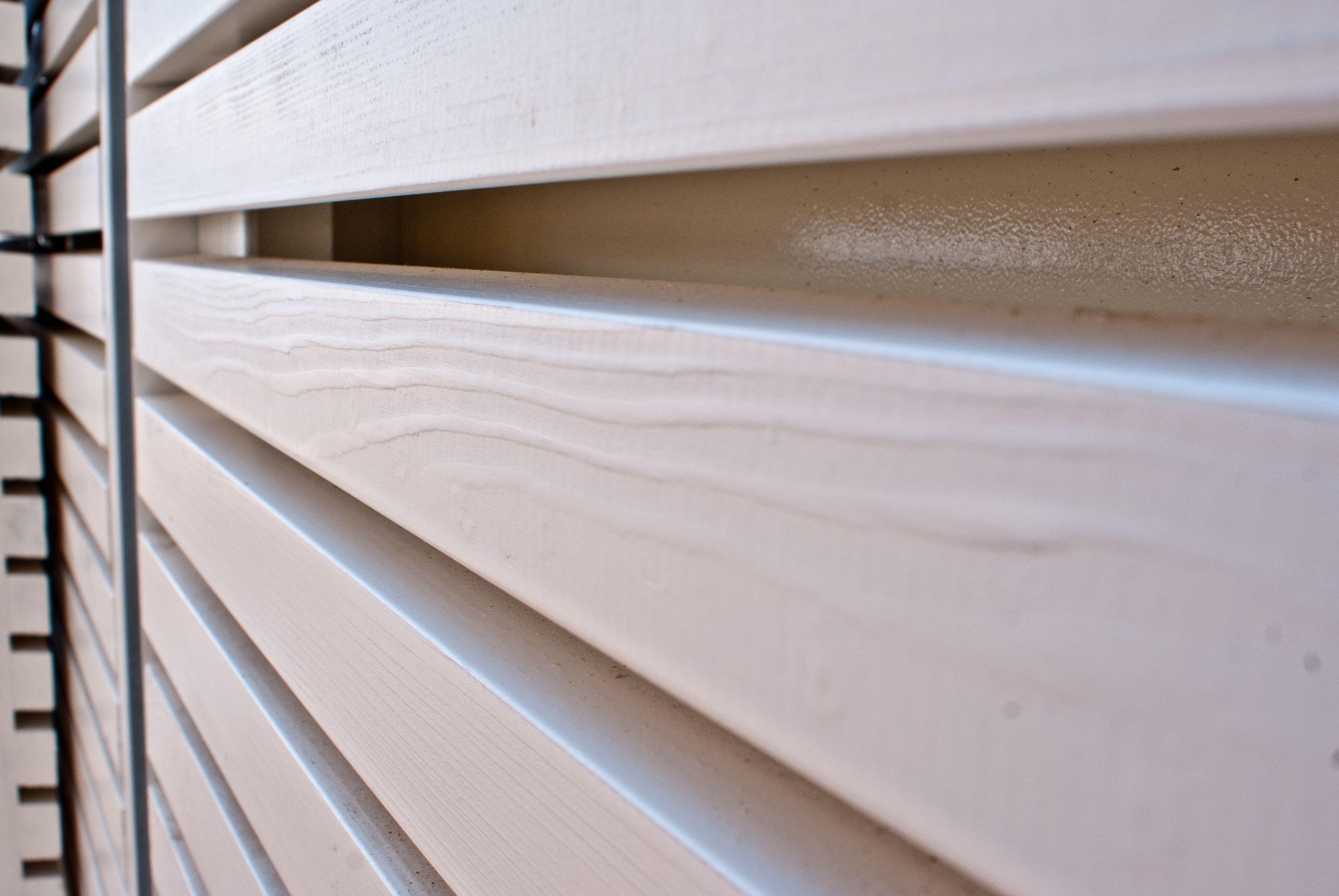 Copertura In Legno Bianco : Larice smaltato bianco rivestimento in legno per esterno per la