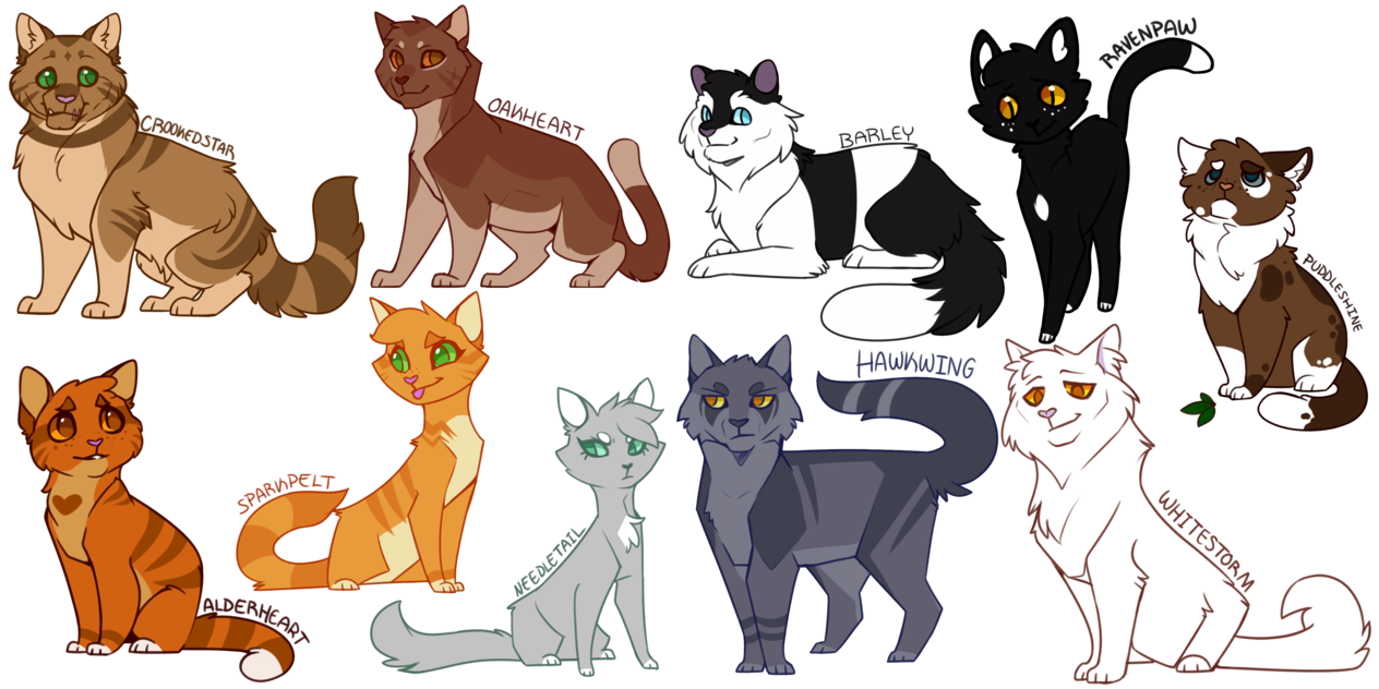 Heyyooooo Look at that, even more Warrior cats designed