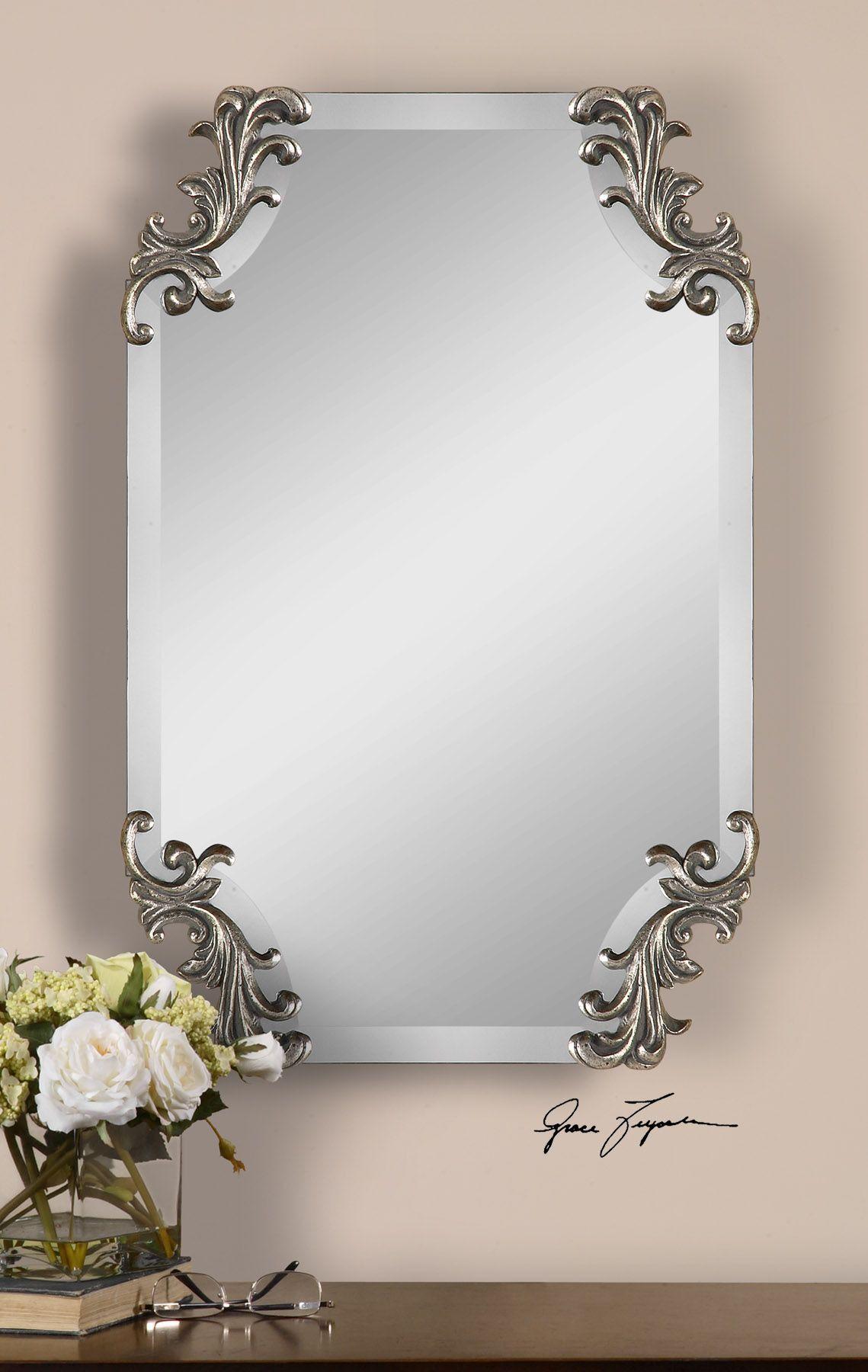 Andretta Baroque Silver Mirror | Mirror | Pinterest | Mirror mirror ...