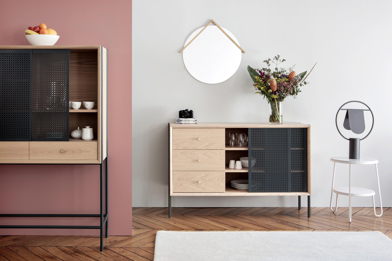 Gabin Sideboard 162cm With Drawers Slate Grey Designer