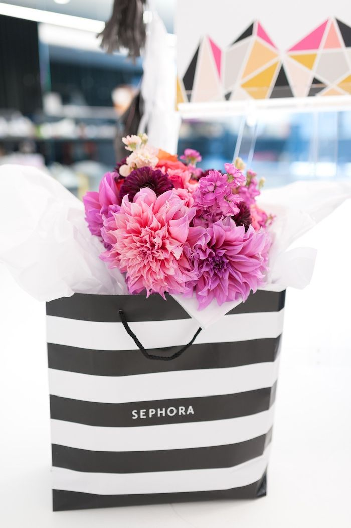 Sephora Gift Bag From A Modern Glam Party Via Karas Ideas