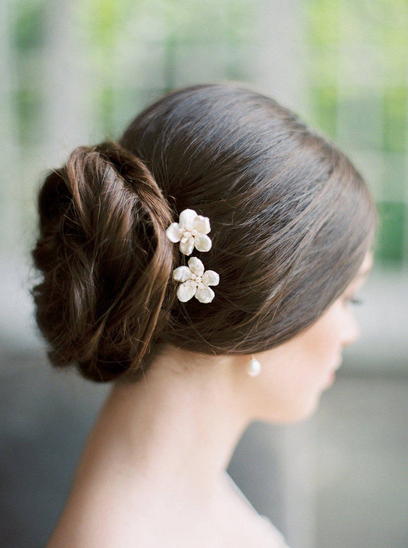 Blume haarnadeln perle haarnadeln floral haarnadeln etsy