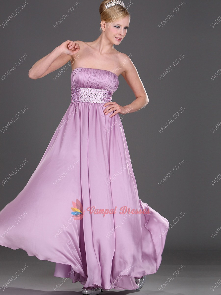 129.00$  Buy here - http://viqyz.justgood.pw/vig/item.php?t=h3u7yv31912 - Lilac Strapless Pleated Sweetheart Chiffon Long Prom Dresses With Beading 129.00$