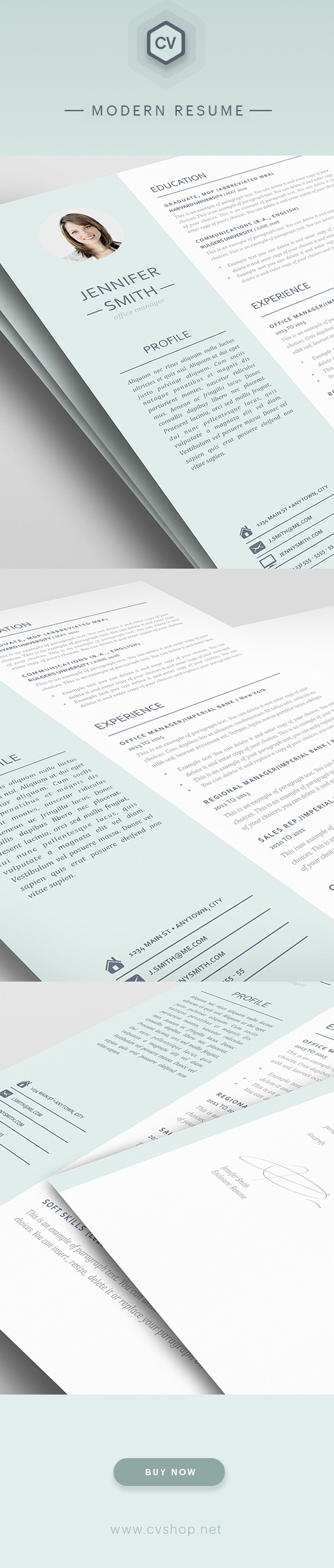 NET cvshop Modern Resume Templates
