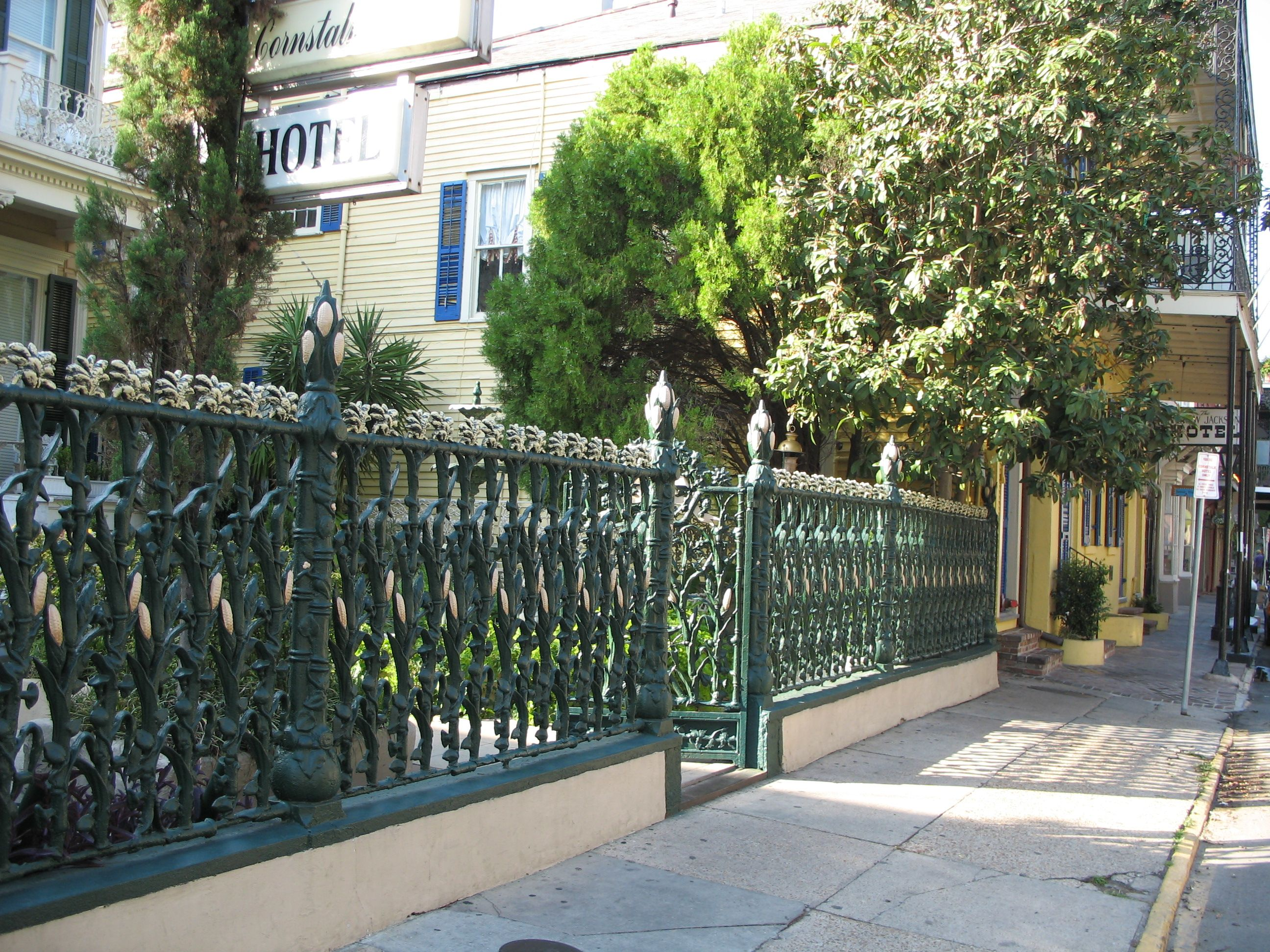 Wrought Iron Cornstalk Fence New Orleans Wrought Wrought Iron