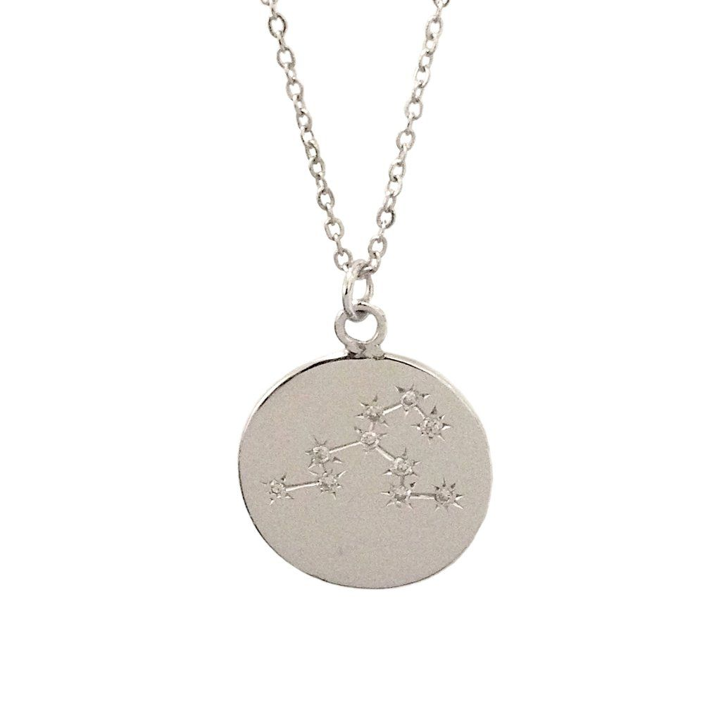 Zodiac constellation collection leo k gold u diamond pendant