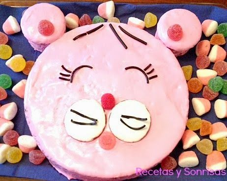 Pastel infantil de osita rosa y feliz chocolate cake rcipe food pastel infantil de osita rosa y feliz chocolate cake rcipe food cake forumfinder Choice Image