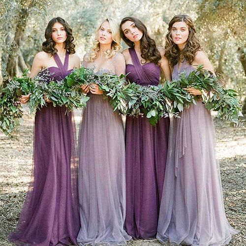 Women Party Evening Wedding Bridesmaid Prom Graduation Ball Long Dress Formal Unbranded Lavender Bridesmaid Fall Wedding Color Palette Wedding Party Dresses