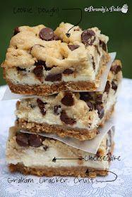 Chocolate Chip Cookie Dough Cheesecake Bars