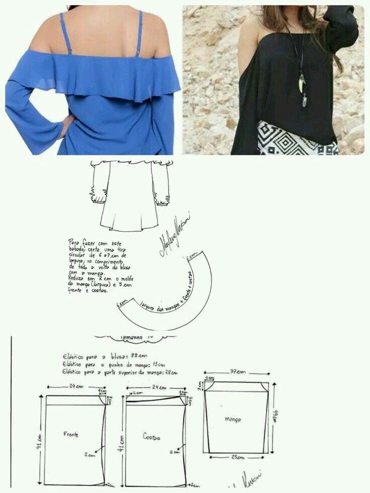 Pin de Ines Tuarez en blusas con trazos | Pinterest | Costura ...