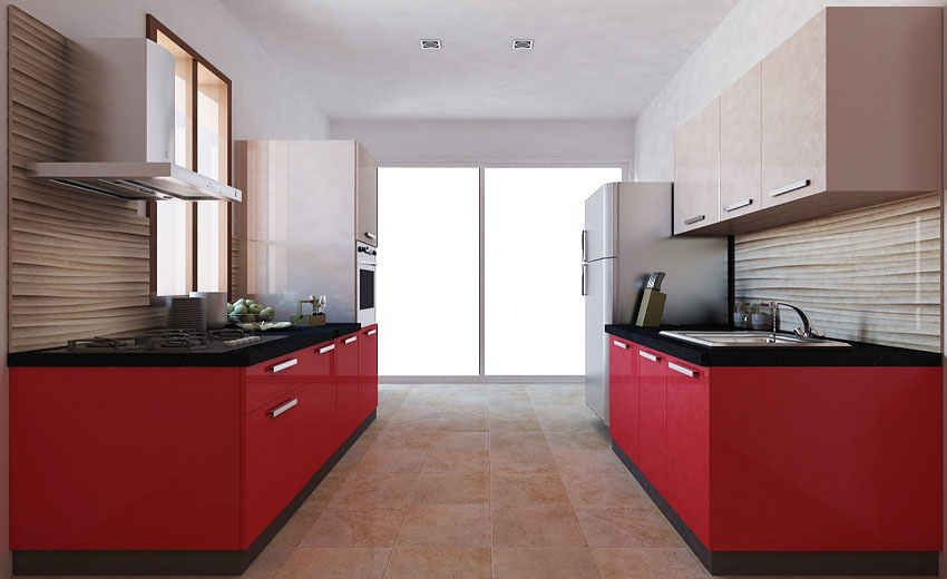 CASA BILANCIO CBP 103 PARALLEL SHAPE MODULAR KITCHEN IN HI GLOSS