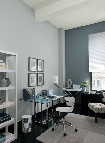 interior paint ideas and inspiration gray home offices on benjamin moore office colors id=43730