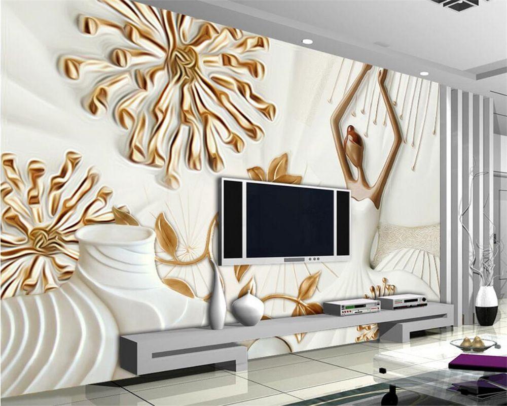 Beibehang wallpaper for walls 3 d Modern pattern relief mural 3D ...