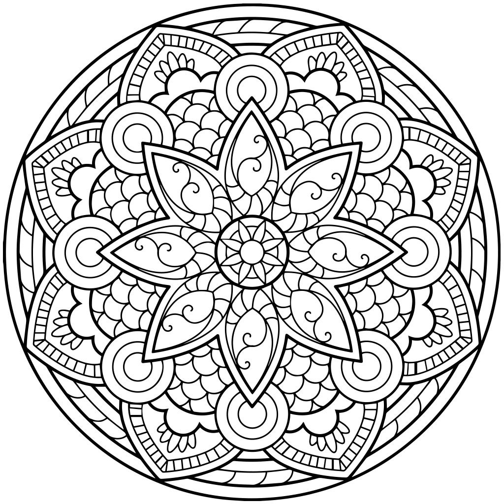 Free windows 10 adult coloring book - Mandala Coloring Pages For Adults For Android Ios And Windows Phone
