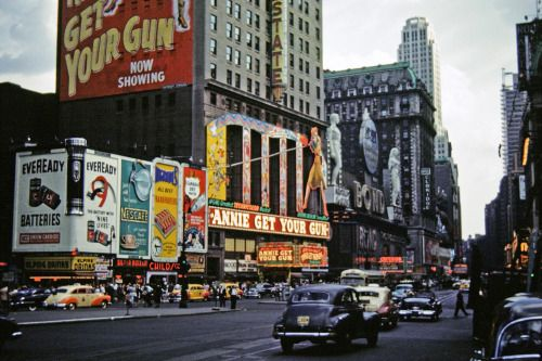 Broadway, New York City. 1950