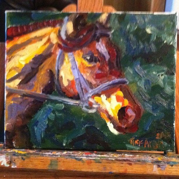 Original oil on canvas painting by Tiffany Aron. A study of a horse in an impressionistic style. More of her work can be found on her face book page www.facebook.com/fineartbytiffanyaron