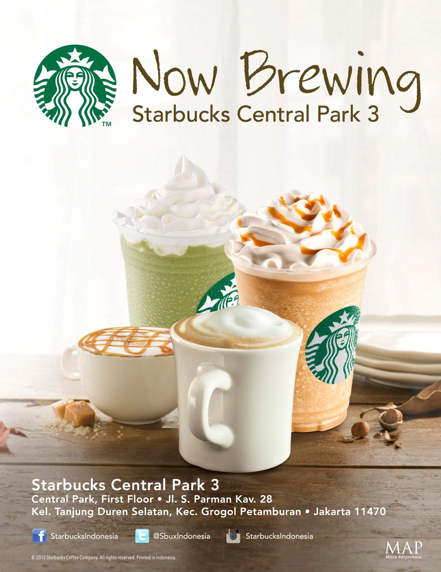 NOW BREWING! The 3rd STARBUCKS Coffee at CENTRAL PARK on 1st Floor ...