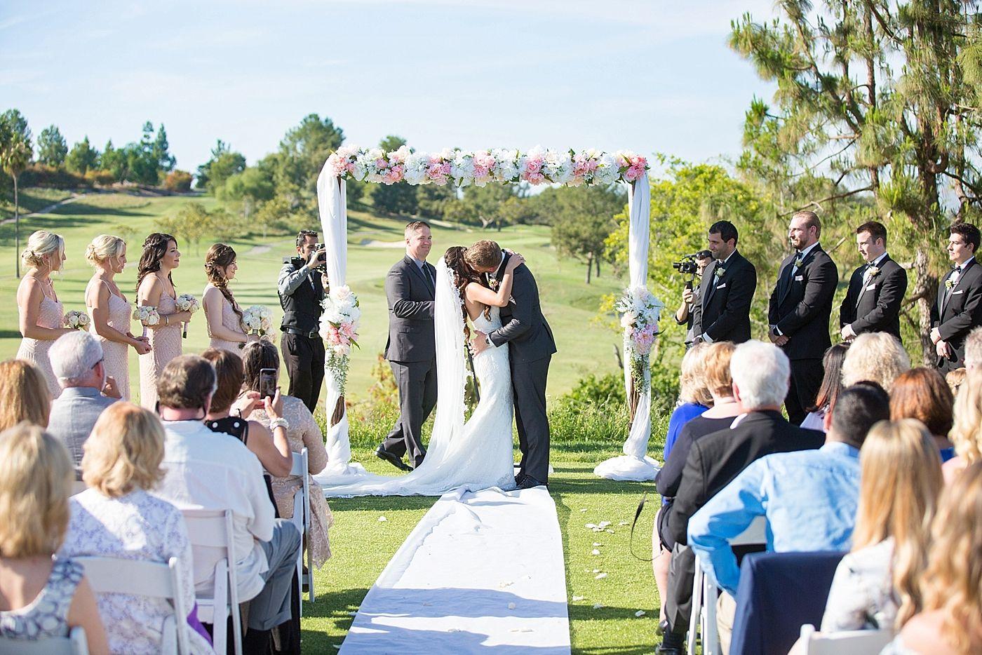 Aliso Viejo Country Club Wedding First Kiss