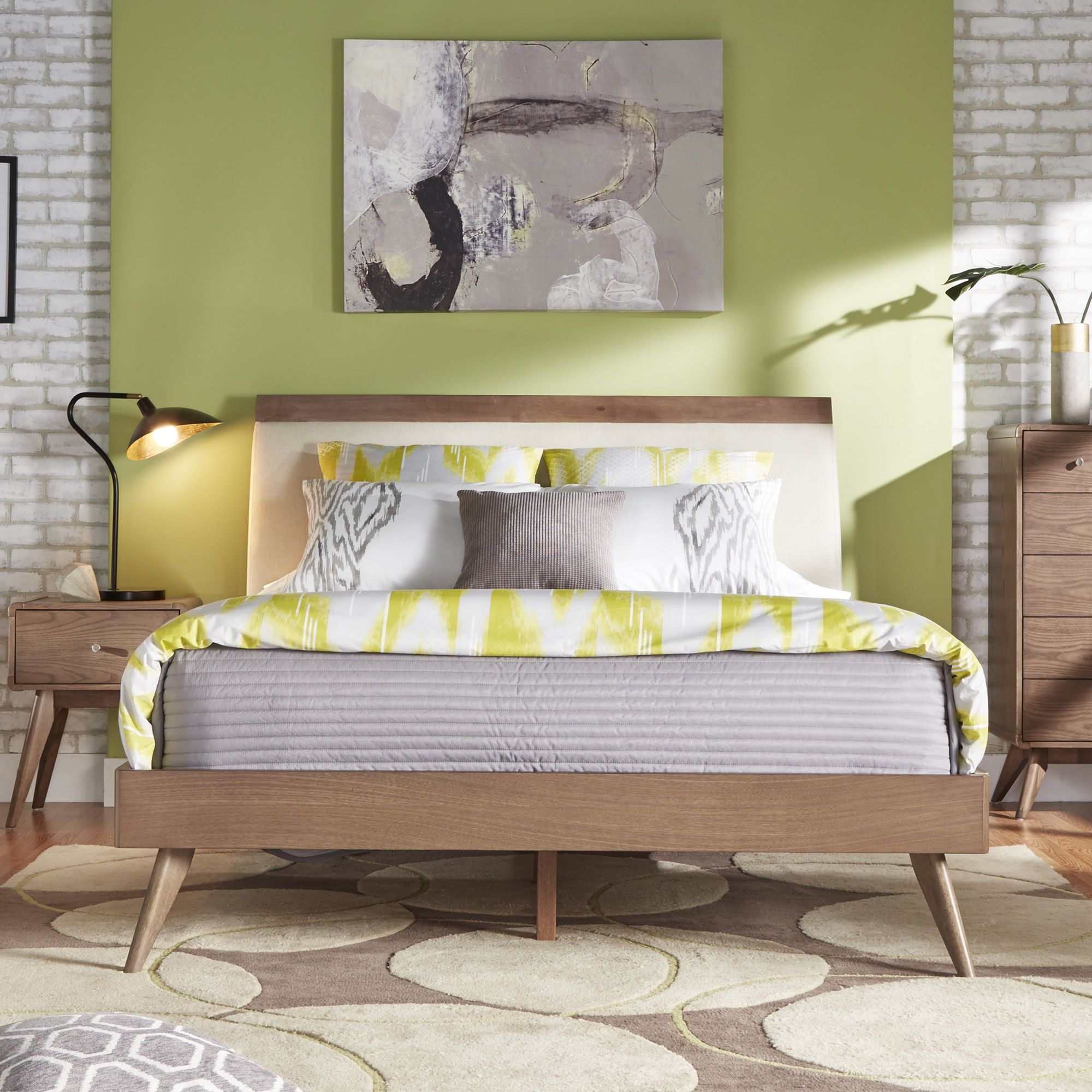 Penelope Tapered Leg Platform Bed iNSPIRE Q Modern (Queen Platform Bed  without Headboard),