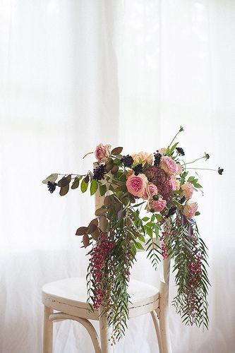 Chair Swag Large Flower Arrangements Wedding Chair Decorations Unique Wedding Flowers