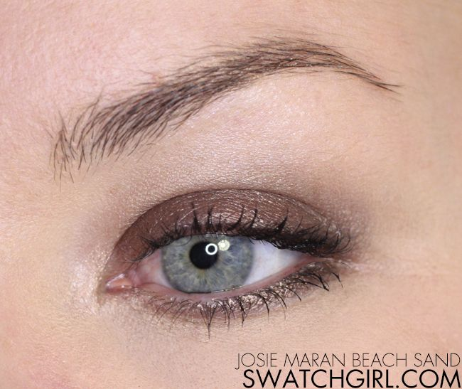 Josie Maran Beach Sand Coconut Watercolour Eyeshadow Review Edgy