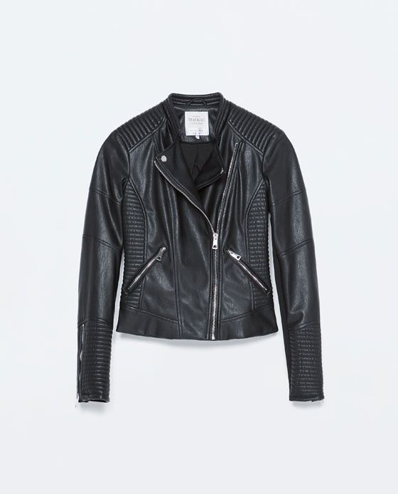 9f2324541 Image 9 of FAUX LEATHER BIKER JACKET from Zara | Capsule | Chaqueta ...