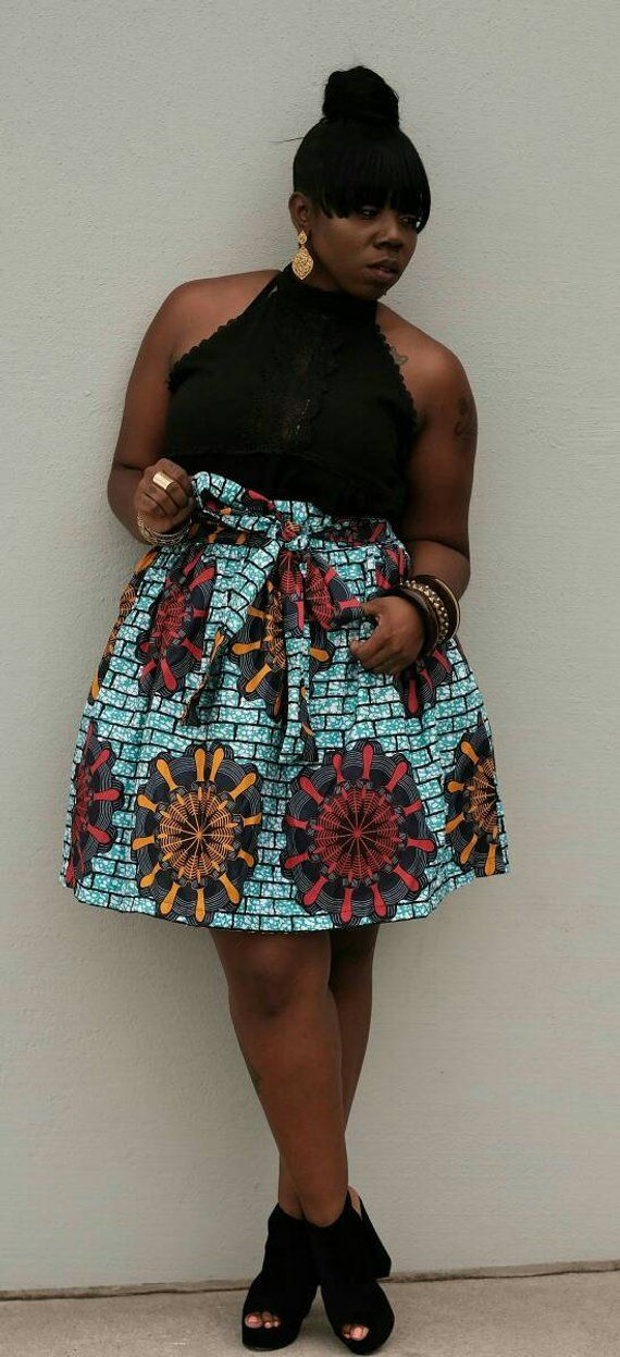1bc7d1e6a SALES/African print ankara women knee length skirt with side pockets  african fashion african style