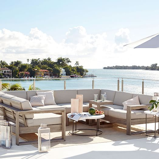 Build Your Own Portside Outdoor Sectional Outdoor Space Design Outdoor Sectional Outdoor Furniture Collections