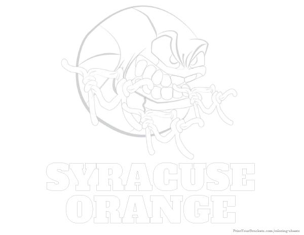 Syracuse Orange Basketball Coloring Sheet Printable College