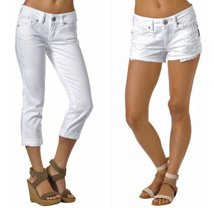White Capri Jeans | Bbg Clothing