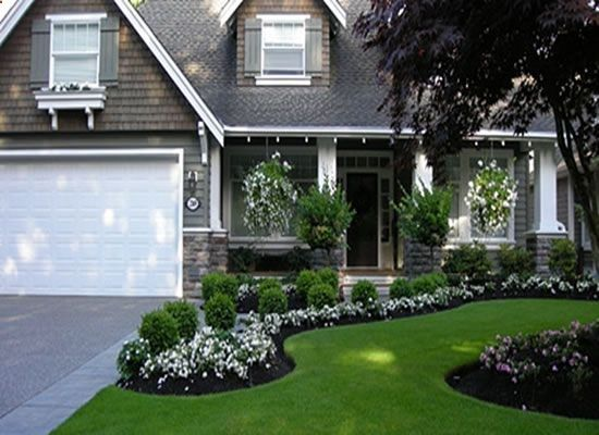 Front Yard Garden Design like the color and siding of this home