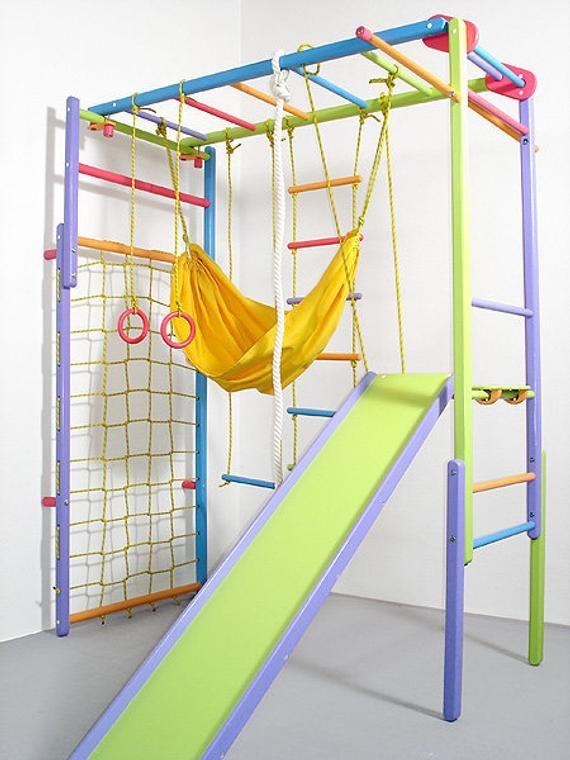 Wooden Indoor Foldable Climbing Playset | Playgrou