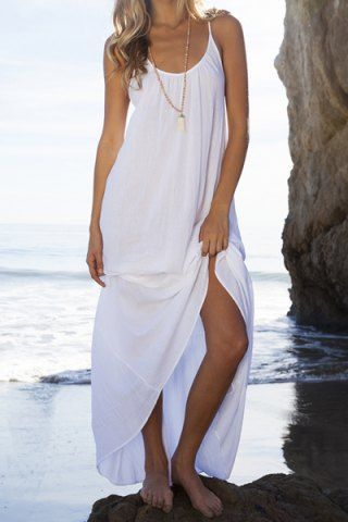 9f3fbfd31cc36 Open Back Beach Casual Long Maxi Slip Dress in 2019 | Women's ...