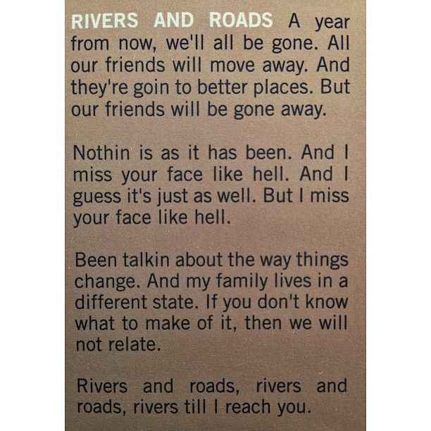 Rivers Roads The Head The Heart Lyrics Being In The Military