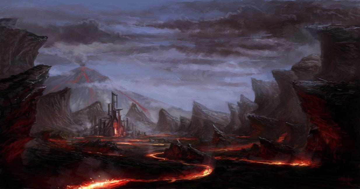 """ Lava land"" by Typhoonbomb    http://th02.deviantart.net/fs70/PRE/i/2012/365/a/d/lava_land_by_typhoonbomb-d5pv2c5.jpg"
