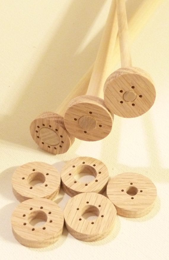 Viking knit supply, wire guides kit with mandrels, solid wood Viking ...