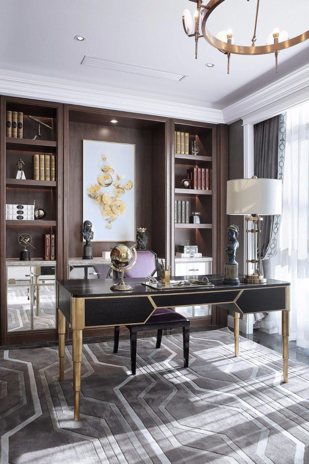 23 Elegant Masculine Home Office Design Ideas: Office Design, Home Office Design, Home Office Decor