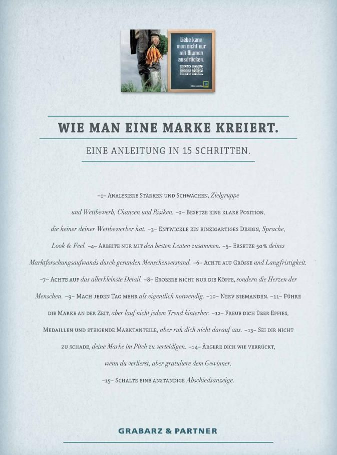 Edeka Abschiedsanzeige Von Grabarz Partner Wie Man Eine Marke Kreiert Edeka Werbung Marke Werbung
