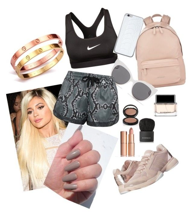 """Gym time"" by anteamihanovic on Polyvore featuring moda, NIKE, Valentine Goods, Givenchy, adidas, Blanc & Eclare, Le Métier de Beauté, Charlotte Tilbury i adidas Originals"