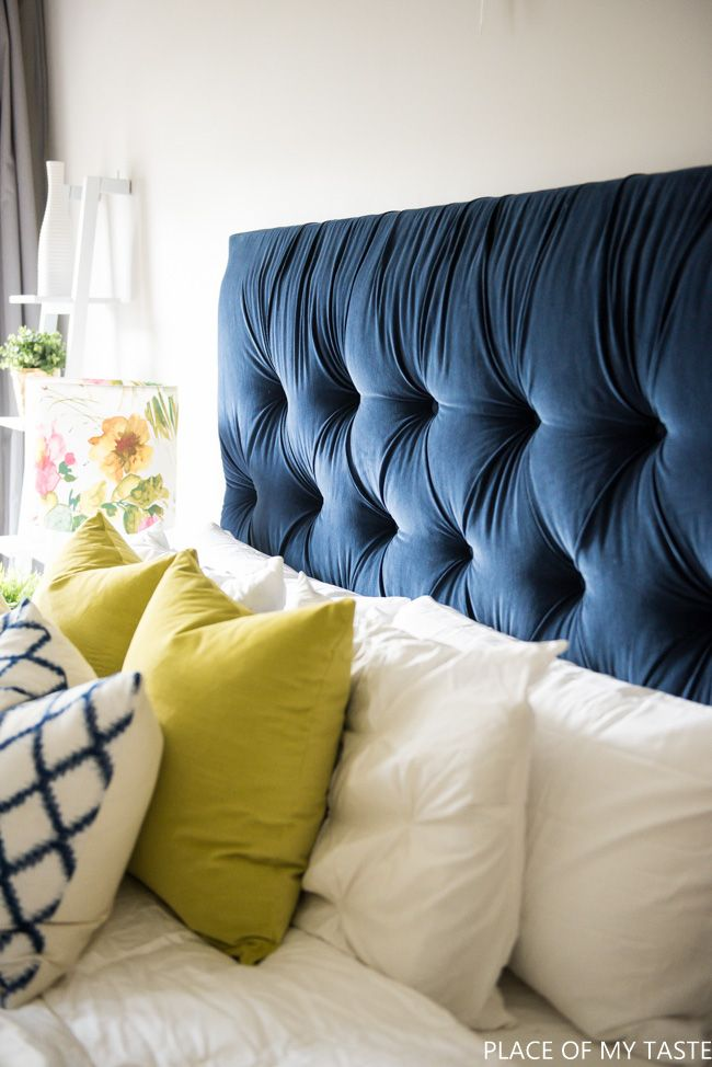 Tufted headboard - how to make it own your own tutorial | Cabeceros ...